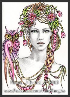 Fairy Tangles: Some new ACEO Fairy Tangle™ Ladies #fairytangles  #ZentangleDesign #art