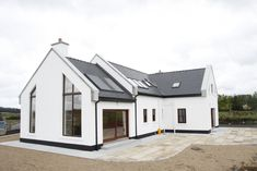 Exterior Bungalow House Ireland 15 Unusual Inspiration Ideas Modern Irish Bungalow House Plans - Homes Zone Loft House Design, Bungalow Haus Design, Modern Bungalow House, Bungalow Exterior, Bungalow House Plans, Small House Design, Modern House Design, Bungalow Designs, Small Bungalow