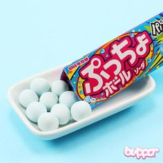 Puccho Pyramid Blue Soda Ball Candy