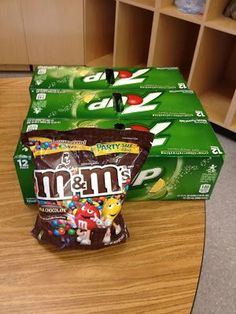 M&M's and 7up on the First Day: Consequences, Writing, and Learning About Your Students! WHAT FUN this would be!