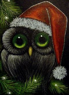 Google Image Result for http://www.ebsqart.com/Art/Gallery/Colored-Pencils-Pastels-Glitter/665087/650/650/FANTASY-OWL-SANTA-HAT-HOLIDAY-3.jpg
