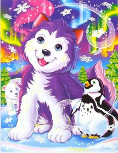 Lisa Frank Tikanni the Husky Puppy Post Card via Etsy Lisa Frank Stickers, Laser Tag, Kawaii, Husky Puppy, 90s Kids, Clipart, My Childhood, Penguins, Coloring Books