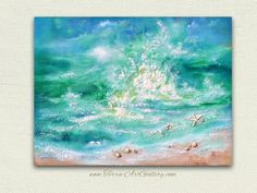 SALE. Dancing Waves. 30x40 Large Original Mixed