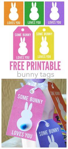 free printable bunny tags: