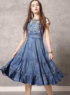 #vintagedresses #womansdresses #womensclothingdresses #denimdress