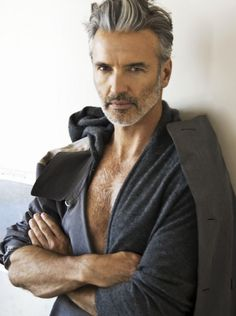 Even with receding hairline and wrinkles, but with proper hair-style, cool clothing line and hot body (hit the gym!), men can still be at his prime!