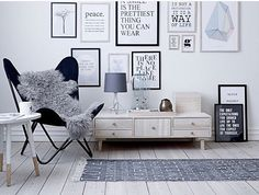 Gallery wall composed of quotes // Repost from @loftandco / Source: Unknown // #Frame4Design