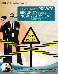 Are you planning a New Year's festive party? Did you know we offer private security for small parties up to national scale events?