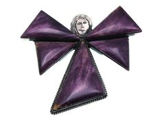 Calvin Martinez, Angel Pin, Pendant, Purple Spiny Oyster Shell, Navajo, Handmade - $345.00
