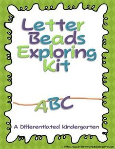 Letter Bead Starter Kit-Differentiated and Aligned to Common Core - Marsha McGuire - TeachersPayTeachers.com