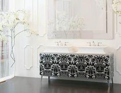 High End Bathroom Vanities Double Sinks