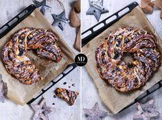 Świąteczny drożdżowy wieniec z makiem i lukrem. Najlepsze ciasto drożdżowe z makiem. Ciasto idealne na święta! // Holiday wreath, Christmas Wreath with poppy seeds #xmas #cakes #yeast #delicious #foodphotography #foodporn #food #photooftheday
