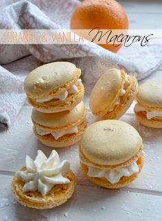 Delicate Delights: Orange and Vanilla Macarons