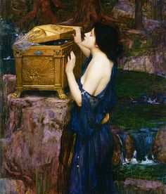 Pandora (detail) by John William Waterhouse