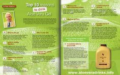 top-10-reasons-to-drink-aloe-vera by Be Forever Healthy via Slideshare
