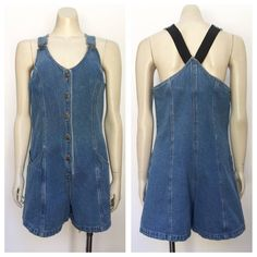 A personal favorite from my Etsy shop https://www.etsy.com/au/listing/570537315/vintage-blue-denim-playsuit-overalls-m