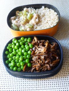 Vegan, delicious and full of protein: Rice, beans, peas and shimeji mushrooms