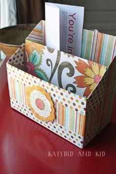 DIY Cereal Box Stationary Organizer