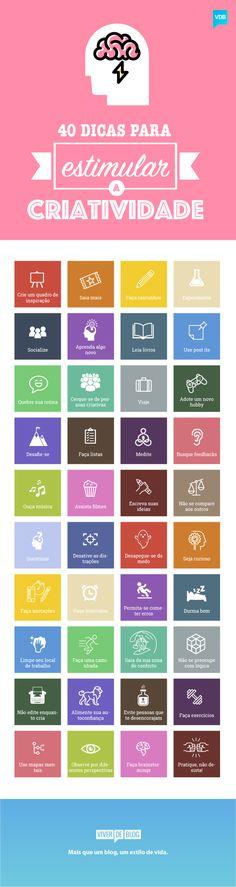 vdb-infografico-bloqueio-criativo Self Development, Personal Development, Experiment, Web Design, Design Thinking, Better Life, Self Improvement, Digital Marketing, Knowledge