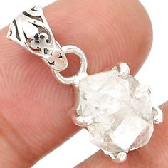 Herkimer-Diamond-925-Sterling-Silver-Pendant-Jewelry-SP185847