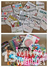 What the Teacher Wants!: 13 Non-Food Valentine Ideas {with printables}