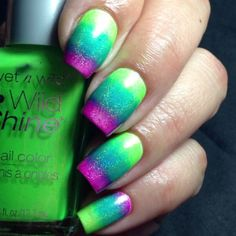 coloresdecarol:  colorful gradient nail art