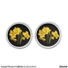 Shop Jonquil Flowers Cufflinks created by Personalize it with photos & text or purchase as is!