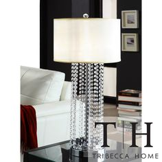 TRIBECCA HOME Saxton 1-light Crystal Chrome Table Lamp | Overstock.com Shopping - The Best Deals on Table Lamps