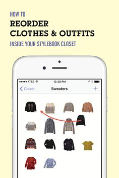 Delightful How To Rearrange Clothing Items And Outfits Inside Your Stylebook  Categories. Reordering Your Items Is