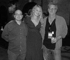Drew Denny (director-writer-actor, THE MOST FUN I'VE EVER HAD WITH MY PANTS ON) shone at the filmmaker/industry mixer, with the LA Film Festival's Doug Jones and VIRGIN NOIR author Paul Zimmerman
