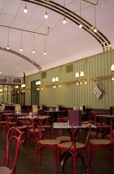 """arqvac: """" Café Museum, Viena 1899 by Adolf Loos """" Design Set, Bar Design, Restaurant Bar, Restaurant Design, Cafe Interior, Interior And Exterior, Vienna Cafe, Loft Cafe, Museum Cafe"""