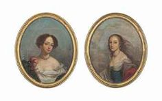 Madame de Montespan (1640-1707) and Madame de Fontange (1661-1681), 18th C after the lithographs by Francois Seraphin Delpech