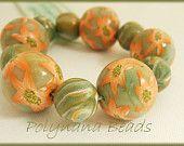 Polymer clay beads - Starflower Garden Polymer Clay Beads, Clay Ideas, My Sunshine, Garden, Etsy, Jewelry, Jewlery, Bijoux, Lawn And Garden