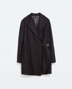 COAT WITH WRAPAROUND COLLAR from Zara