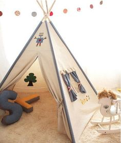 SOABE Blue decoration Teepee Tent Teepee Indian tent Play by Soabe