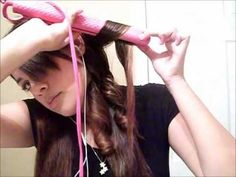 How To Curl Your Hair With A Straightener - YouTube