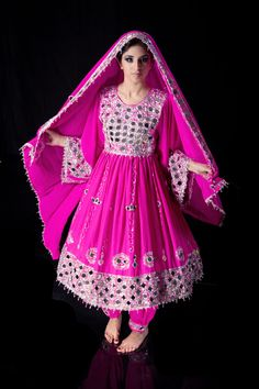 Pink mora dozi dress