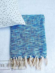Blue Textured Throw