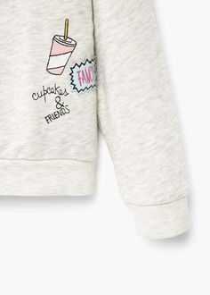 Sweater coton brodé | MANGO KIDS