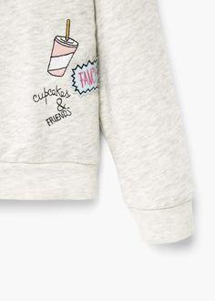 Sweater coton brodé | MANGO KIDS