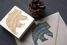 Bear Return Address Stamp, The Great Outdoors Theme by TriElegance. #TriElegance