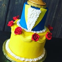 Beauty and the Beast cake - custom cake - tale as old as time     Www.facebook.com/tinykitchencakery