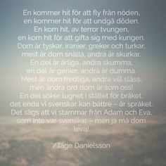 En dikt av Tage Danielsson