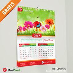 Desain Kalender Dinding 2017