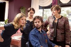 Still of Camryn Manheim, Julia Stiles, David Walton and Maureen Keiller in The Makeover (2013)