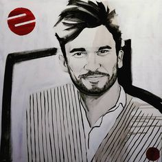 FUTURE Surprise portrait. A present to a young man I've watched growing up. #portrait #youth #young #painting #exhibition #drawing #illustration #pencil #acrylic #pencilart  #smile #dark #blackandwhite #beard #handsome #stripes #red #white #face #hair #gaze #content #design #interiordesign #picture #abstract #browneyes #design