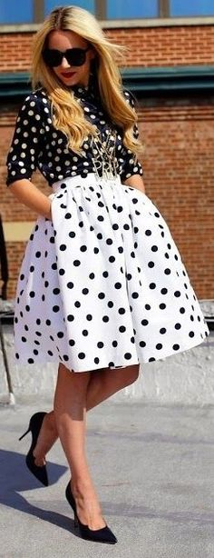 #spring #style | Polka Dot Game Outfit |  Atlantic-Pacific