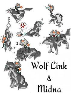 The Legend of Zelda: Twilight Princess - Wolf Link and Midna
