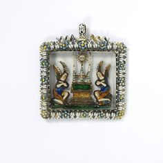 Pendant        Place of origin:        France (made)      Date:        ca. 1650 (made)      Artist/Maker:        Unknown (production)      Materials and Techniques:        Enamelled gold pendant with relief under glass      Museum number:        2281-1855