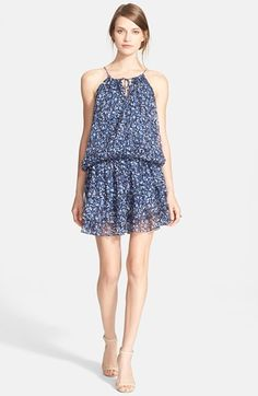 Elizabeth and James 'Kenji' Print Blouson Silk Dress at Nordstrom.com.